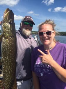 Northern Pike caught in the Brainerd Lakes area